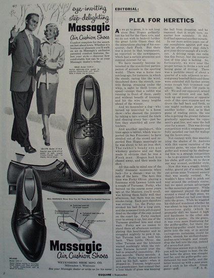 Massagic Air Cushion Shoes 1955 Ad