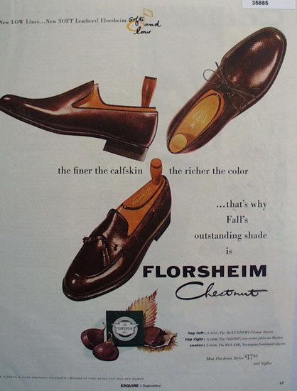 Florsheim Chestnut Shoe 1955 Ad