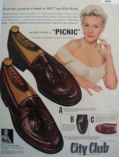 Peters City Club Shoe 1955 Ad
