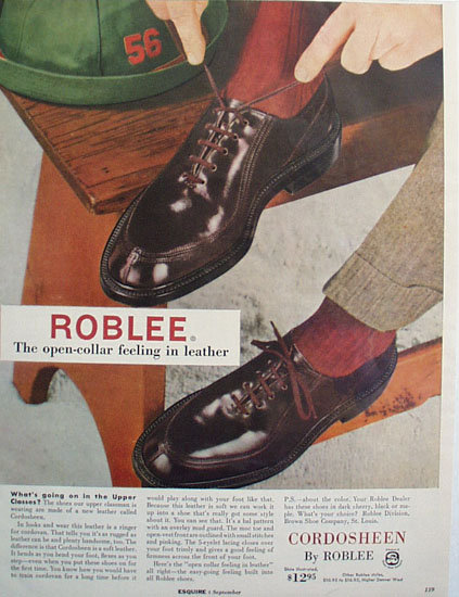 Cordosheen By Roblee Shoe 1955 Ad