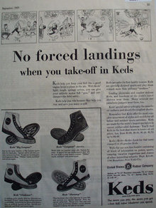 U.S. Rubber Co. Keds Shoes 1929 Ad