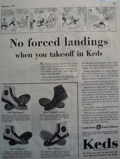 U.S. Rubber Co. Keds Shoes 1929 Ad