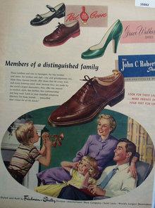 John C. Roberts Shoe 1953 Ad