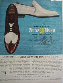 Nunn Bush Ankle Fashioned Shoes 1965 Ad