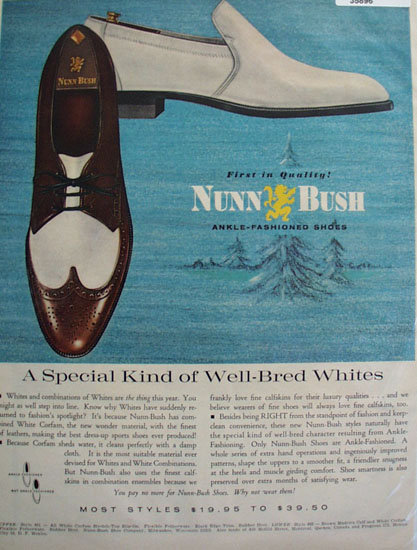 Nunn Bush Ankle Fashioned Shoes 1965 Ad
