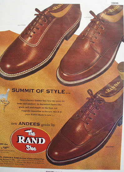 The Rand Shoe 1954 Ad