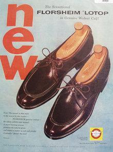 Florsheim Lotop Shoe 1954 Ad