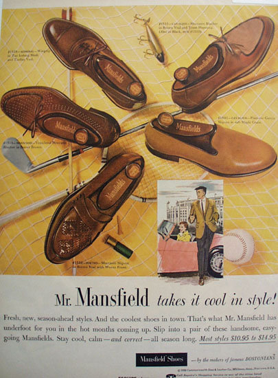 Mansfield Shoes 1956 Ad.