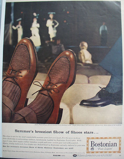 Bostonian Foot Lights Shoes 1957 Ad