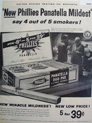 New Phillies Panatella Cigars 1958 Ad.