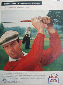 Enjay Butyl Fabulous New Rubber 1958 Ad.