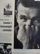 Ingemar Johansson Heavyweight Boxer 1958 Article