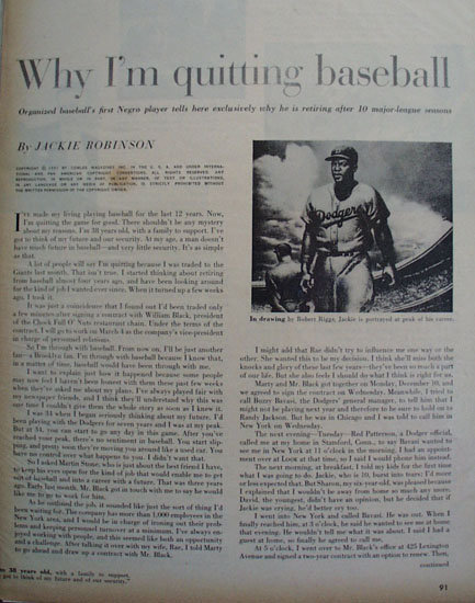 Jackie Robinson 1957 Article