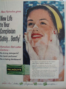 Palmolive Mild and Gentle Soap 1958 Ad