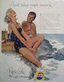 Pepsi Cola Light Refreshment 1956 Ad