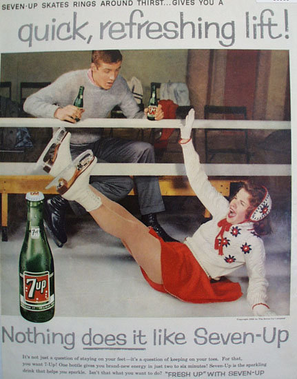 Seven Up Quick Refreshing Lift 1959 Ad