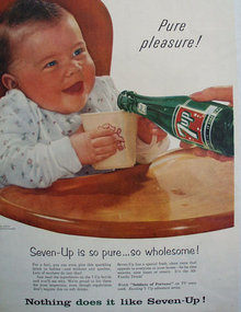 Seven Up Pure Pleasure 1956 Ad