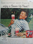 Seven Up Float 1959 Ad