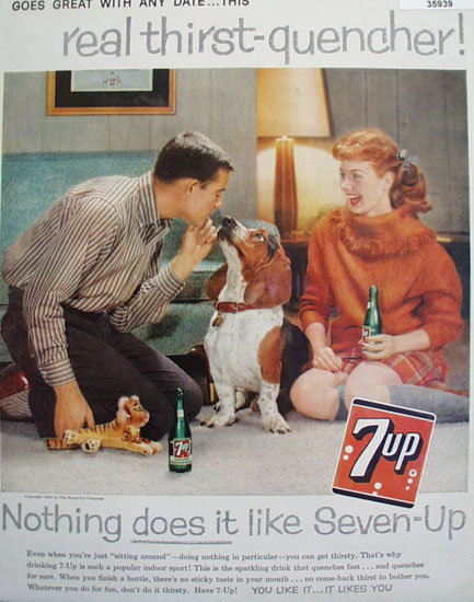 Seven Up Thirst Quencher 1959 Ad