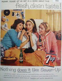 Seven Up Fresh Up 1959 Ad