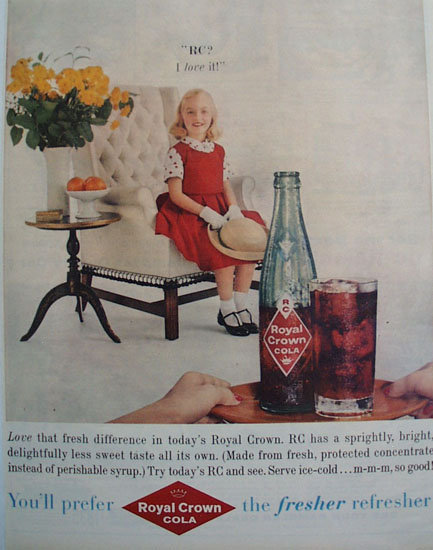 Royal Crown Cola I Love It 1959 Ad