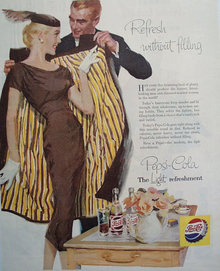 Pepsi Cola The Light Refreshment 1956 Ad.