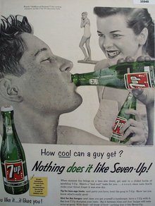Seven Up Cool Guy 1955 Ad