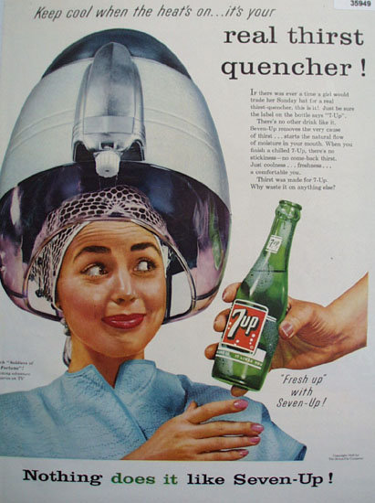 Seven Up Thirst Quencher 1956 Ad