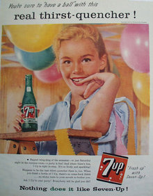 Seven Up Have A Ball 1957 Ad