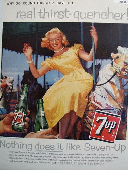 Seven Up Round Thirsty 1959 Ad
