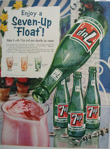 Seven Up Float 1956 Ad