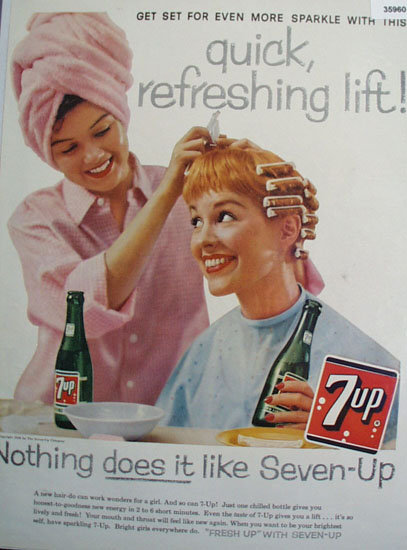 Seven Up More Sparkle 1958 Ad