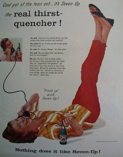 7Up Cool Pet of the Teen Set 1957 Ad