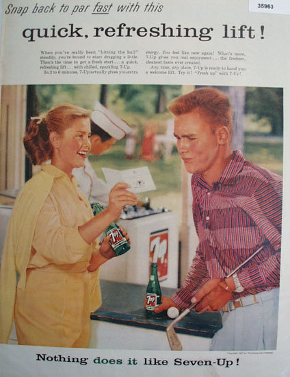 Seven Up Snap Back To Par 1957 Ad