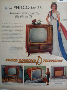 Philco Diamond D Television 1957 Ad