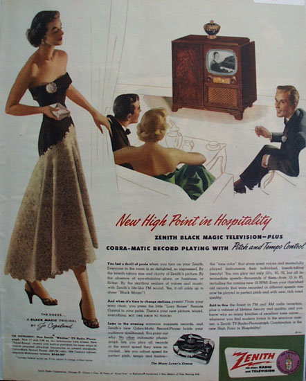 Zenith Radio And Television Hospitality 1951 Ad