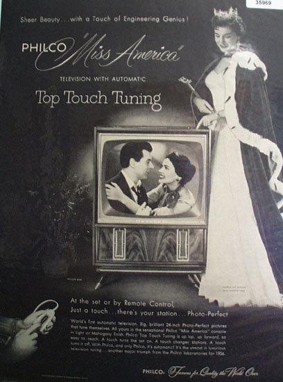 Philco Television Sheer Beauty 1955 Ad