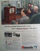 Motorola TV Anderson Family 1951 Ad