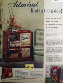 Admiral First In Television 1949 Ad