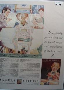 Baker's Cocoa Ad Supreme Quality 1930