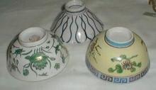 3 rice bowls,