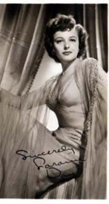 Photo of Loraine Day, studio signed