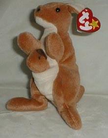 Ty Beanie Baby, Pouch Kangaroo