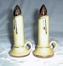 Yellow Candle Salt & Pepper shakers