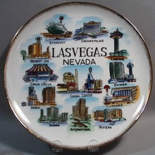 Porcelain plate Las Vegas Nevada