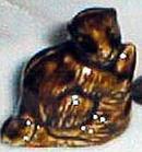 Wade Ware Animal Beaver in Dark Brown