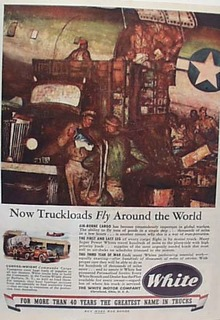 White Truck Fly Around The World Ad 1944