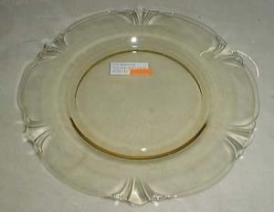 Heisey Empress Salad Plate in Yellow