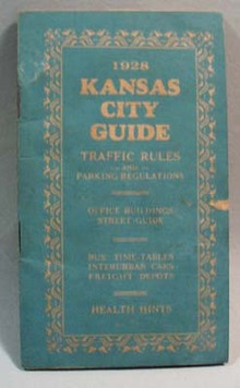 Kansas City Guide Traffic Rules 1928