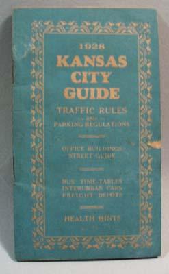 Kansas City Guide Traffic Rules 1928